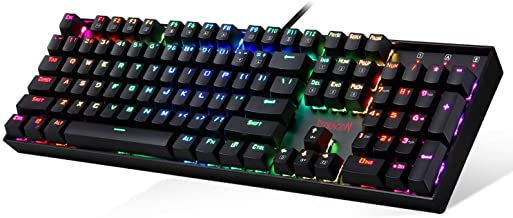 Gaming Keyboard Mechanical Keyboard K551 VARA by Redragon 104 Key RGB LED Backlit Mechanical Computer illuminated Keyboard...