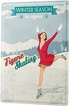 Tin Sign Retro Seasonal ice Skates