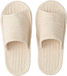 Muji Indian Cotton Open Toe Room Sandal Ecru (Large)