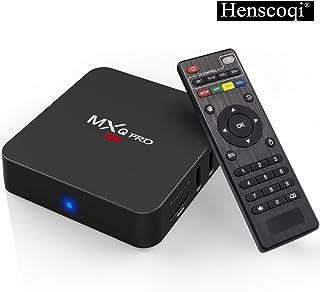 Henscoqi MXQ PRO 4K Android TV Box Quad Core Amlogic Set Top Box WiFi 1G 8G Memory