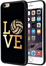 Badalink Love Volleyball Case for iPhone 6/6S, Ultra-Slim Matte Finish Flexible TPU Case for iPhone 6/6S Thin Fit Anti-Scratch Shock-Absorption Case Compatible iPhone 6/6S - Love Volleyball