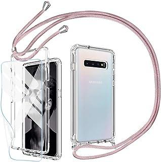 JMstore Funda Compatible con Samsung Galaxy Note 8 Transparente TPU PC Carcasa.movil con Colgante//Cadena.Protectora ponible Cord/ón Cruzado