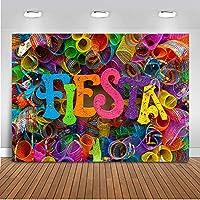 バナースタジオの装飾 Fiesta Reci N Nacido Para A Fiesta Maxican ブース写真小道具 カラフル ビデオ背景折りたたみ式 現代の