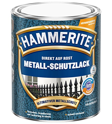 Hammerite Metall-Schutzlack Hammerschlag, 075 Liter in Dunkelgrau