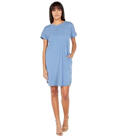 Mod-o-doc Slub Jersey Twist Neckband Tee Dress