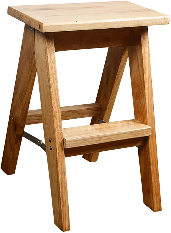 LXJYMX Solid Wood Folding Ladder Stool, Kitchen Stool Portable Stool, Folding Chair, Fishing Stool. Climbing Ladder (Size   S)