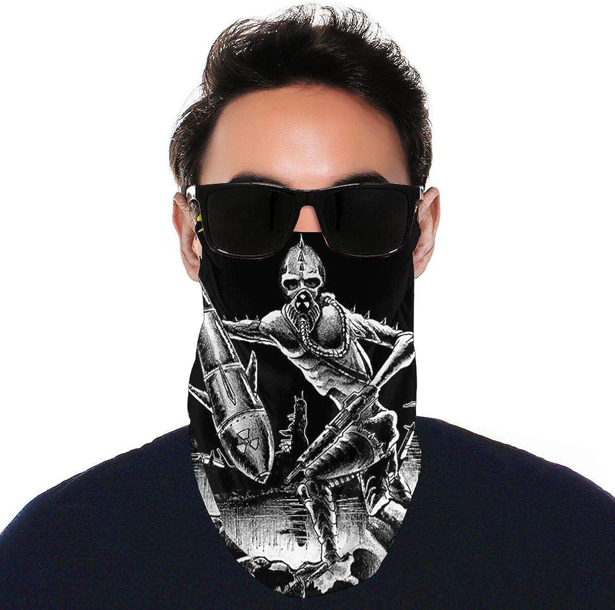 SIPONE Washable Men's & Women's Toxic Holocaust Reusable Multiuse Bandanas Neck Gaiter Print Mask