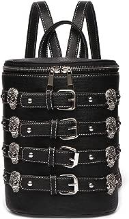 Punk Art Day of the Dead Sugar Skull Women Backpack Studded Biker Purse Fashion Daypack Shoulder Bag