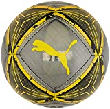 PUMA SPIN Ball Balón de Fútbol, Unisex-Adult, Black-Ultra Yellow-Orange Alert,...