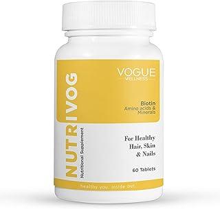 Vogue Wellness Nutrivog Biotin Supplement 10MG Per Serving, for Hair & Skin