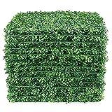 Lackingone 12PCS 50x50 CM Panneaux de Plantes Buis Réalistes Vert Haie Artificielle Clôture de Protection de la Vie Privée pour Intérieur Extérieur Faux Mur Vivant et Décoration de Sol