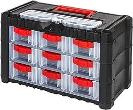 Estantería para taller con 6 compartimentos, color rojo