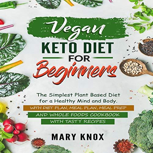 Vegan Keto Diet for Beginners audiobook cover art