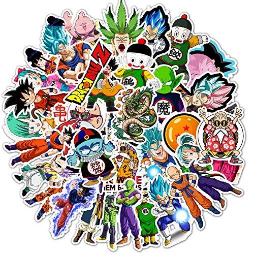 /Pack Pegatinas De Dibujos Animados Dragon Ball Super Anime Para Portátil Bolsas De Equipaje Bicicleta Teléfono Estilo Lindo Juguetes Doodle Pvc Creativo F5 50 Unids