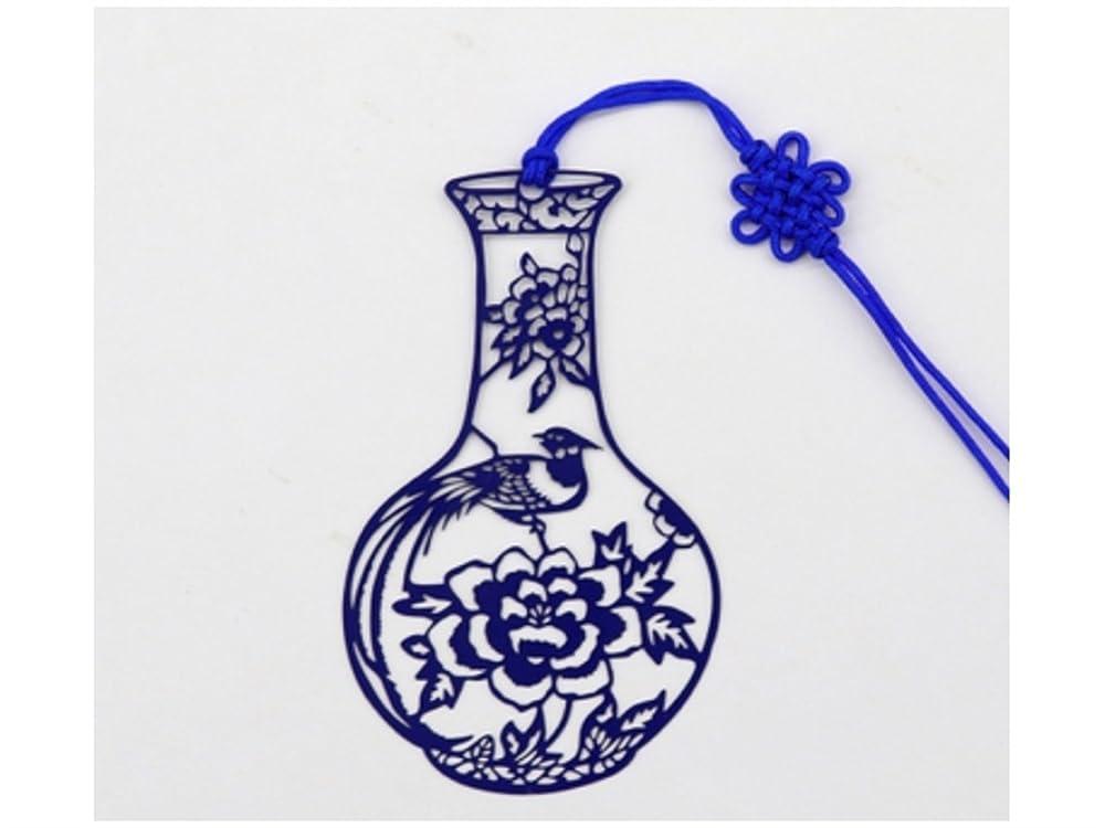 課税大洪水適格FenBuGu-JP 学生教師 レトロな中国風の青と白の磁器のブックマーク誕生日のクリスマスギフトのための中空ブックマーク