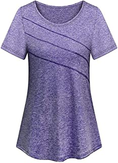 Sports Shirt, Domary Women Short Sleeve Yoga Top Quick Dry Running Workout Sports T-Shirt Activewear