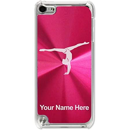 Case Compatible with iPod Touch 5th/6th/7th Generation, Gymnast Girl, Personalized Engraving Included (Red)