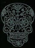 Sugar Skull Clear Rhinestone Transfer Iron On...