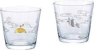 東洋佐々木ガラス ペア酒グラス 180ml えんぎもの 鶴亀 日本製 G089-T254 2個入り