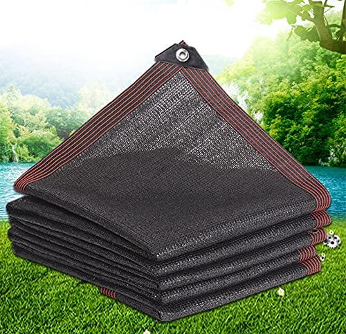 ZWYSL Toldo con Protección, Toldos, Ojal Ampliado Patios, Jardines, Balcones, Plantas, Mallas De Sombra (Color : Negro, Size : 6×8m)