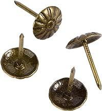 FUCAS Upholstery Tacks Furniture Nails Pins 150pcs (Antique Brass Daisy)