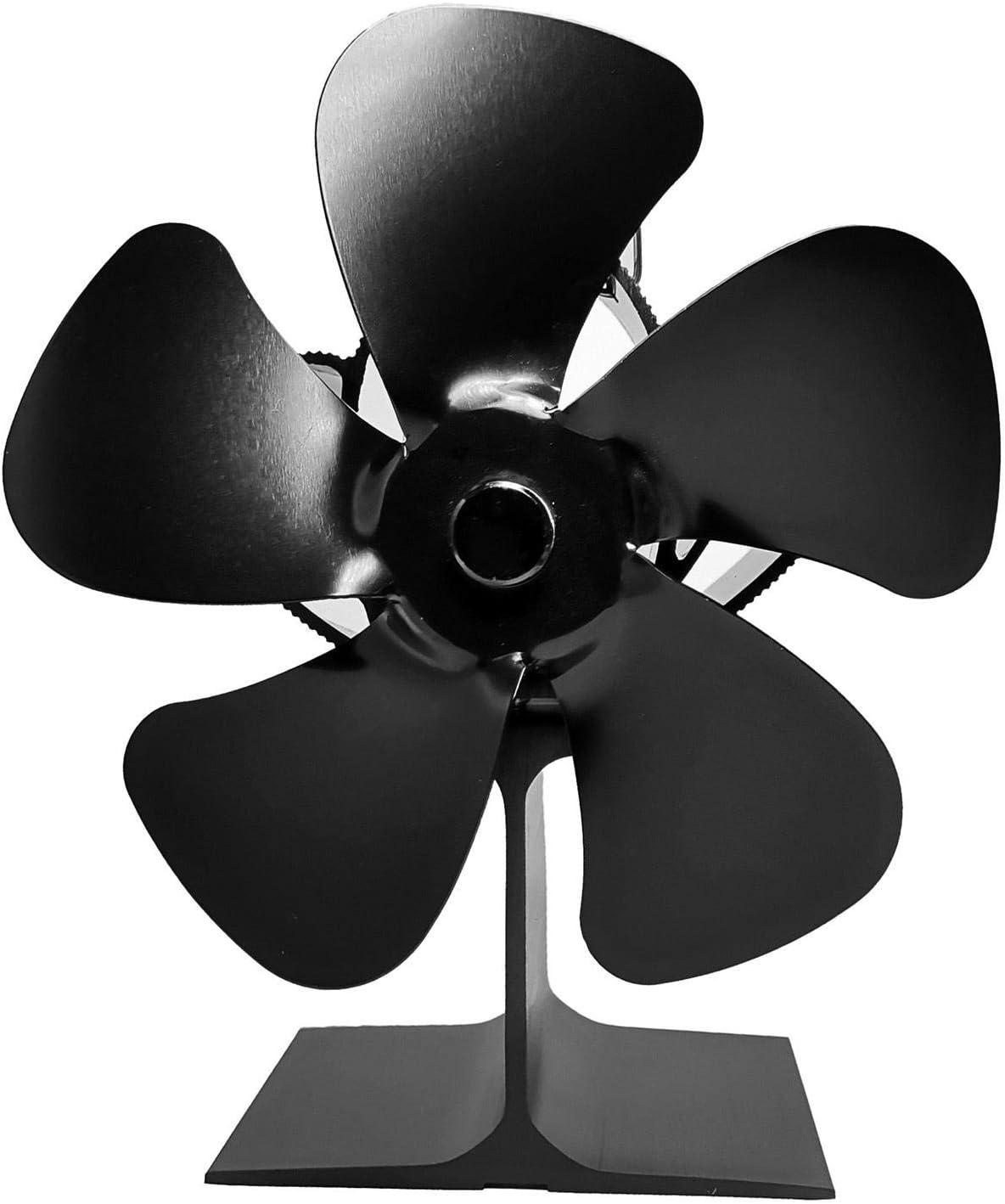 Fireplace Fan 5-blade Quiet Safe お得セット Sto 価格 Heat Powered