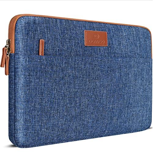 "DOMISO 14 pulgada Funda para portátil Impermeable Bolsa de transporte para de 14"" Lenovo Chromebook S330/ThinkPad A475 A485 E485 T480s/HP ProBook 640 645 G4/Dell Inspiron 5482 5490 Chromebook 14, Azul"