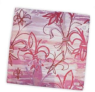 Gigli Firenze foulard artistico esclusivo pura seta 70x70cm made in Italy. Riproduce contratti irregolari su fondo pennell...