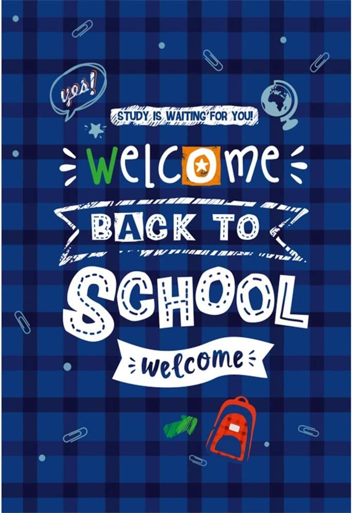 Laeacco 6.5x8ft Welcome Back to Vinyl School Photography Memphis Mall Max 71% OFF Backgro