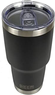 KEEP 30 oz Stainless Steel Tumbler Double Wall Insulated Vacuum Tumbler Powder Coated Tumbler with Splash Proof Lid - Double Wall Vacuum Insulated - 18/8 Stainless Steel Thermos (Black, 30 oz Tumbler)
