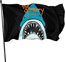 JXXO The Geekery Shark Flag,Outdoor Garden decorates Grommzets Tough Durable Fade Resistant for All Weather Outdoor