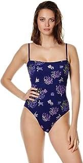 0c9e46a1a35a Vilebrequin - Costume Intero Donna con Corpetto Ricamato Coral And Turtles