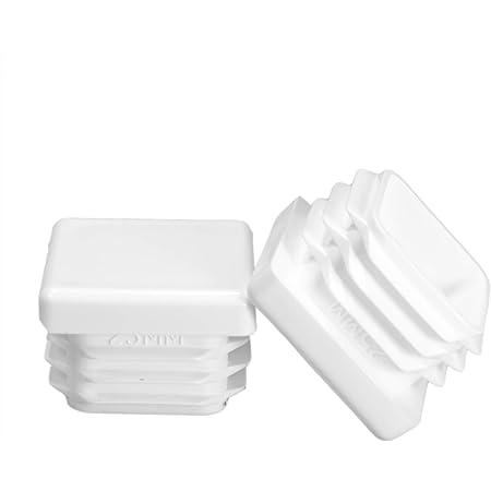 Prescott Plastics 8 Pack 2 Inch Square Plastic Plug Tubing End Cap Durable Chair Glide