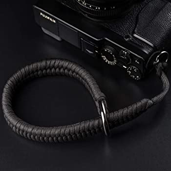 Camera Wrist Strap (550 Paracord/Black) Higher-end and Safer Adjustable Camera Lanyard Wrist, Suitable for Nikon/Canon/Sony/Panasonic/Fujifilm/Olympus DSLR or Mirrorless Cameras Hand Strap