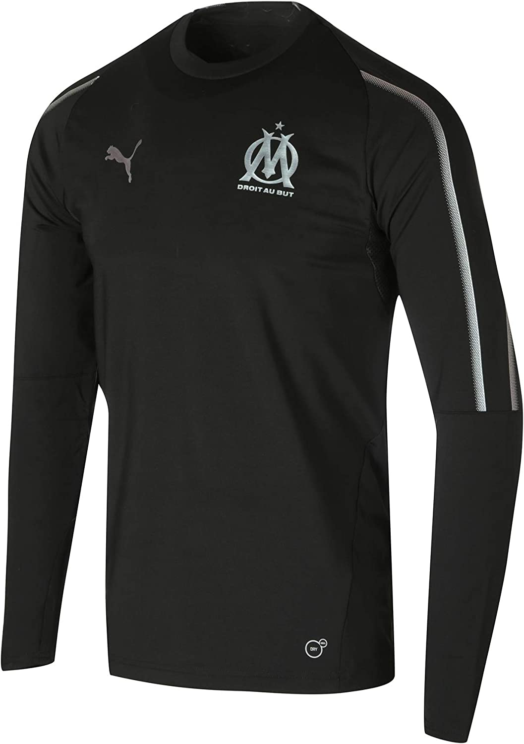 2018-2019 Olympique Marseille Puma Training Sweat Top (Black)