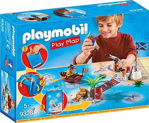 PLAYMOBIL- Play Map Piratas del Caribe Juguete
