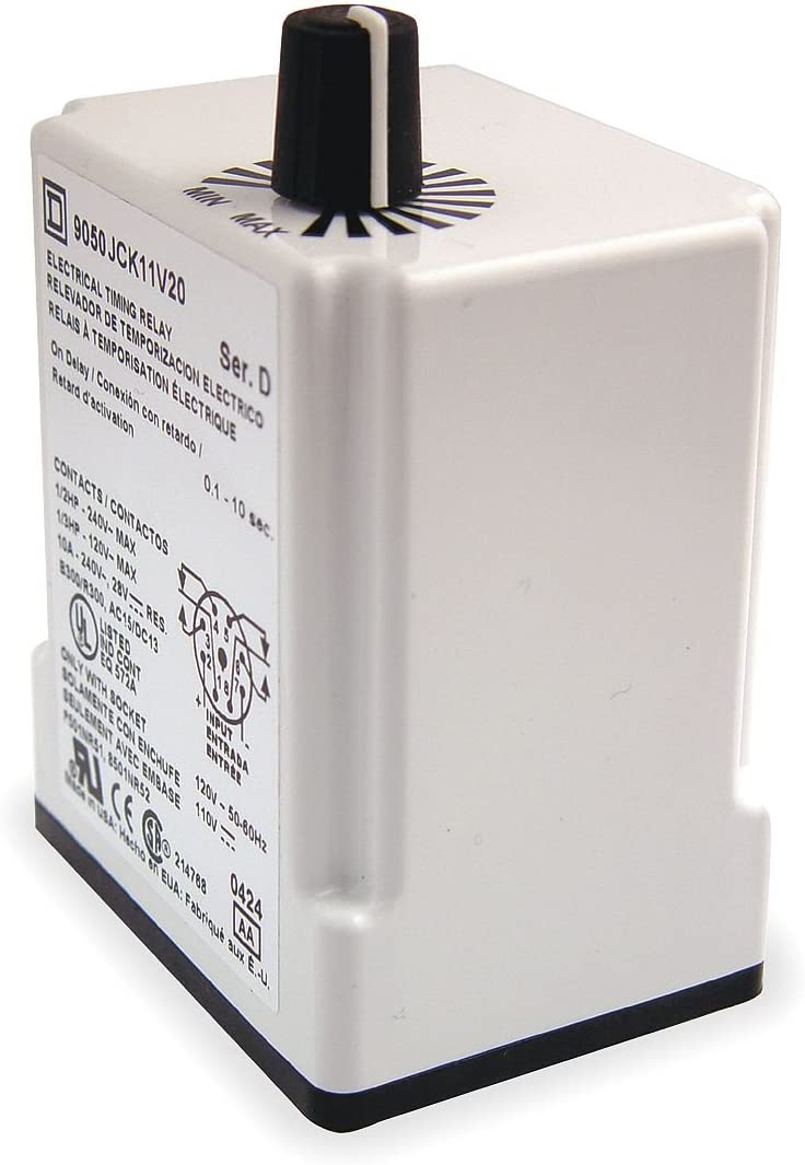 Square D Al sold out. Time Delay Relay 2VA DC DPDT Factory outlet 24VAC 10A