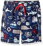 Hatley Boy's Trunks Swim Shorts, Vintage Nautical, 2 Years