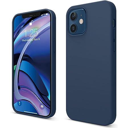 """elago Silicona Líquida Funda Compatible con iPhone 12 Case y Compatible con iPhone 12 Pro Case (6.1""""), Silicona Premium, Protección Funda Protectora 3 Tapas Estructura (Azul Oscuro)"""