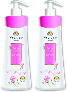 Yardley London English Rose Moisturising Hand and Body Lotion for Normal Skin, 350ml (Pack of 2)