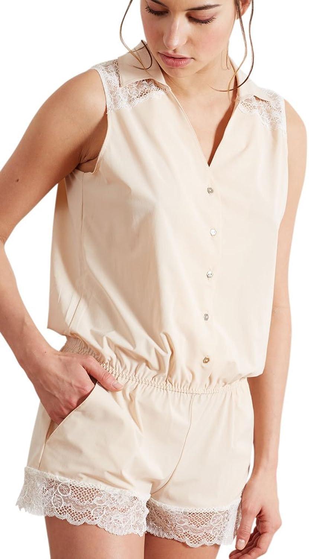 Barbara 221963 Women's Jane Ivory Powder Beige Lace Sleepwear Teddy