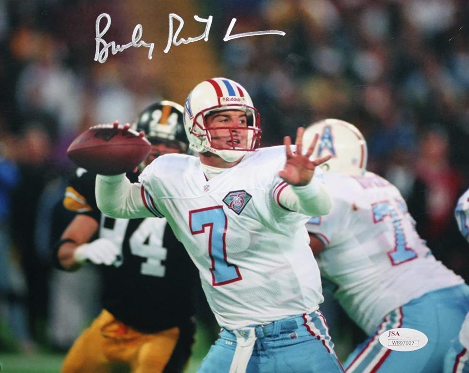 Signed Bucky Richardson Photo  8x10 Passing Witness  JSA Certified  Autographed NFL Photos