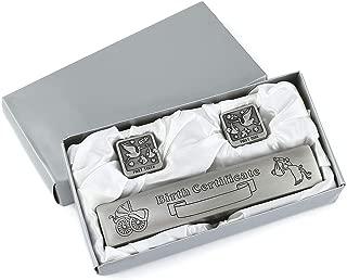 engraved birth certificate holder