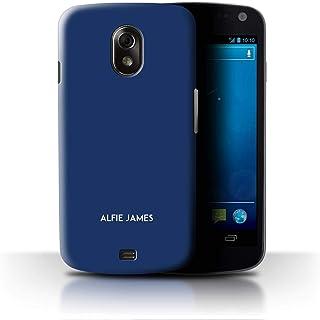 Personalizado Paleta Colores Personalizar Funda para el Samsung Galaxy Nexus 3/I9250 / Azul Medianoche Diseño/Inicial/Nombre/Texto Carcasa/Estuche/Case
