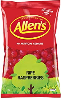 Allen's Ripe Raspberries Lollies Bulk Bag, 1.3 Kilograms