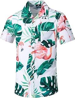 Qiyun Autumn Shirt Men Summer Printed Short-Sleeved Beach Shirt Quick-Drying Casual Loose Top