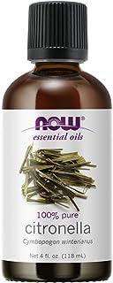 NOW Essential Oils, Citronella Oil, Freshening Aromatherapy Scent, Steam Distilled, 100% Pure, Vegan, Child Resistant Cap,...