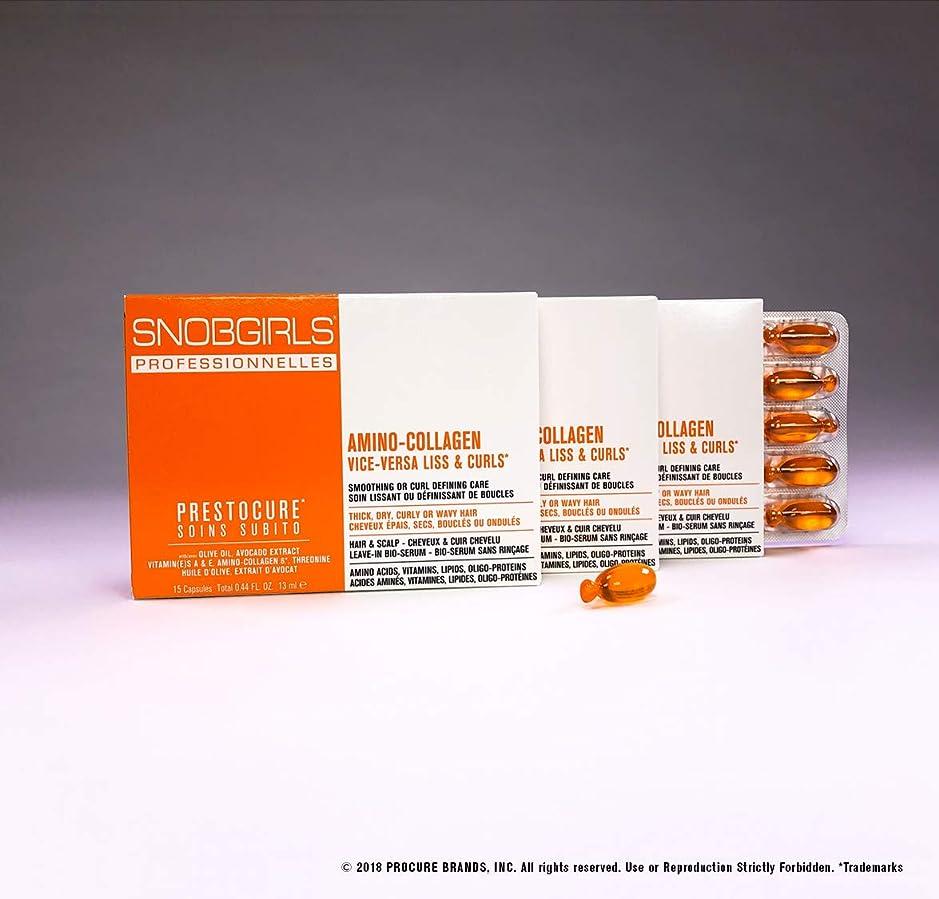 オーバーコート義務的言い聞かせるSNOBGIRLS VICE-VERSA CURLS TWIST-OFF HAIR CAPSULES - 3×15個のパックのパック(合計45個のパック)