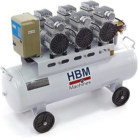 Knappwulf Flüster Kompressor Neue Generation Luftdruckkompressor Kw2200 Mit 100l Kessel 3 Motoren A 1100w Baumarkt