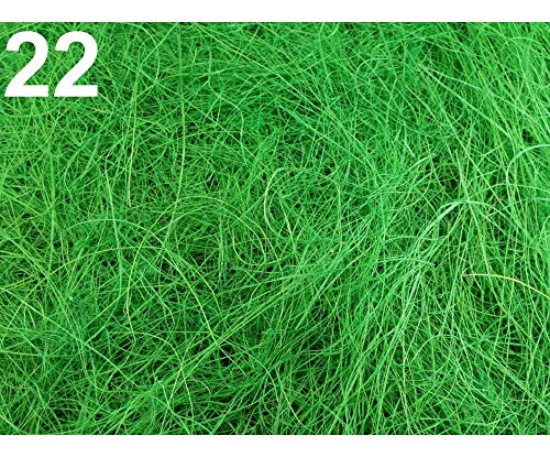 1tüte 22 Pastelgrün Sisalgras 50g Natur, Floristik Zubehör, Zum Arrangieren, Dekoration